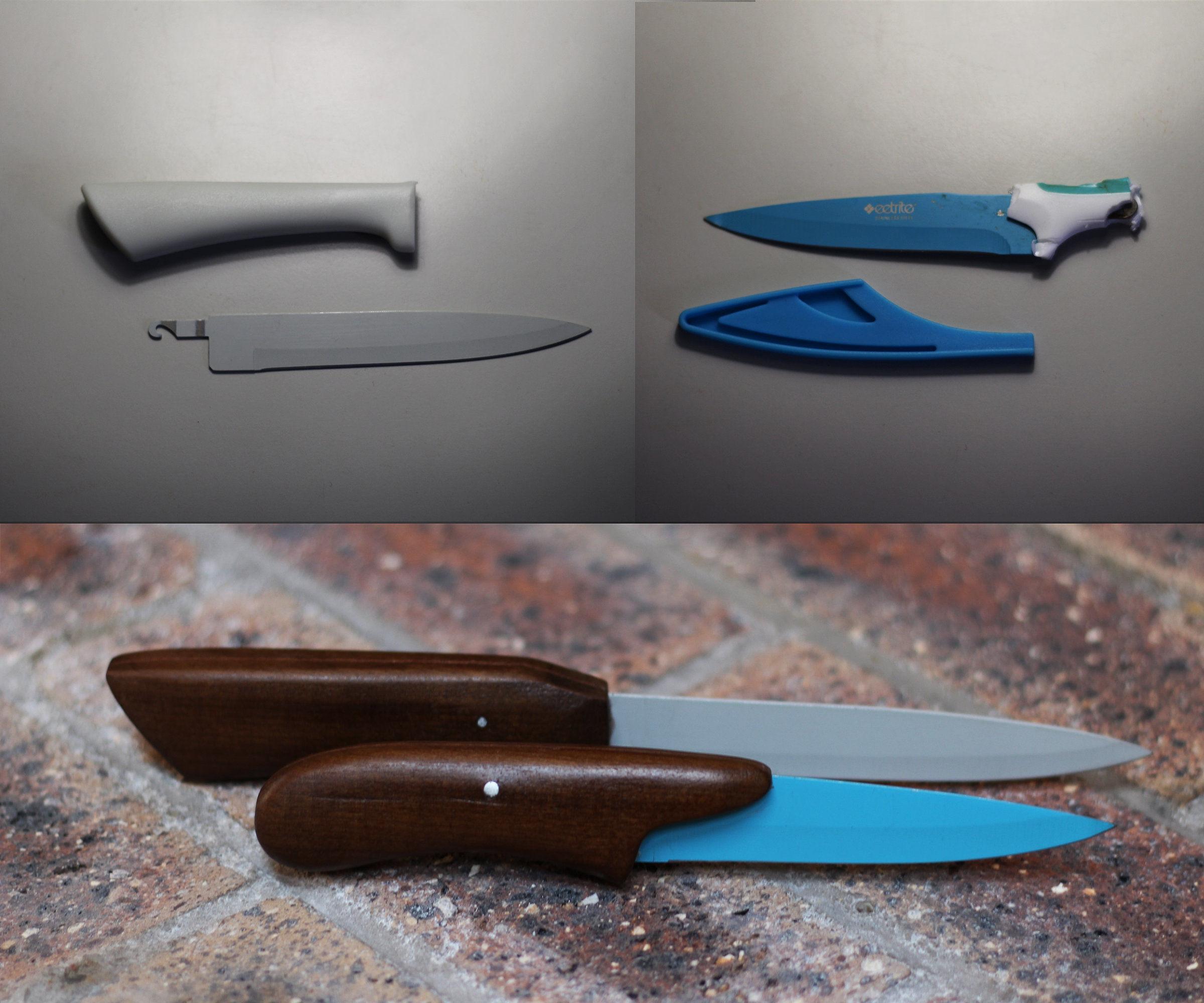 Refurbished Knife With Broken Handle