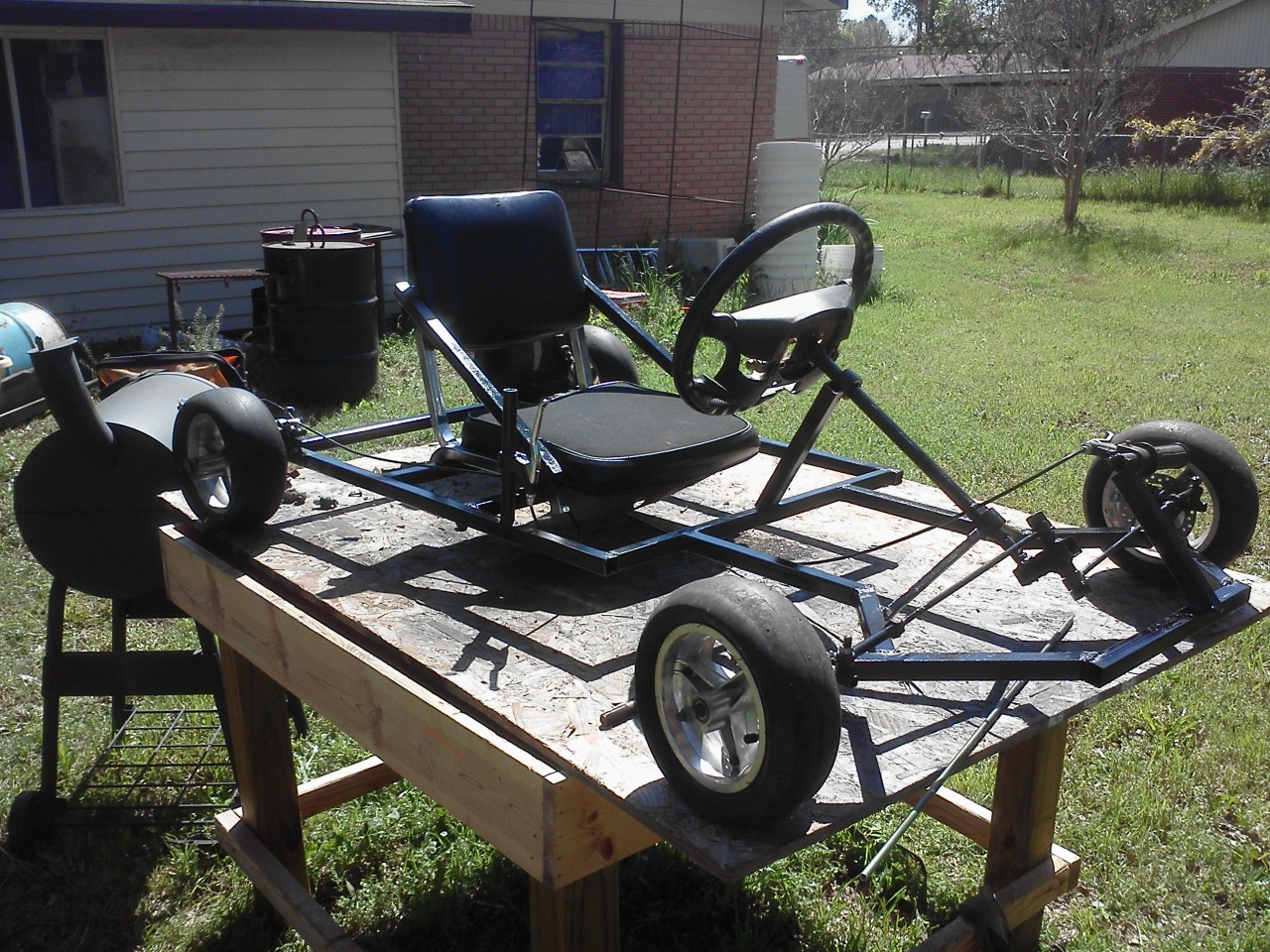 Homemade Go Kart 10 Steps With Pictures Instructables