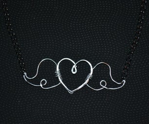 Wire Winged Heart Pendant