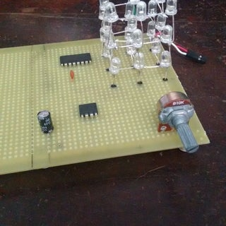 LED Cube Using 4020 Ic and 555 IC