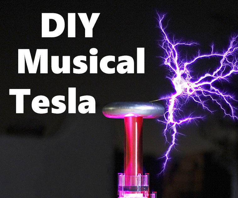 5$ Singing Musical Tesla Coil Music Box !