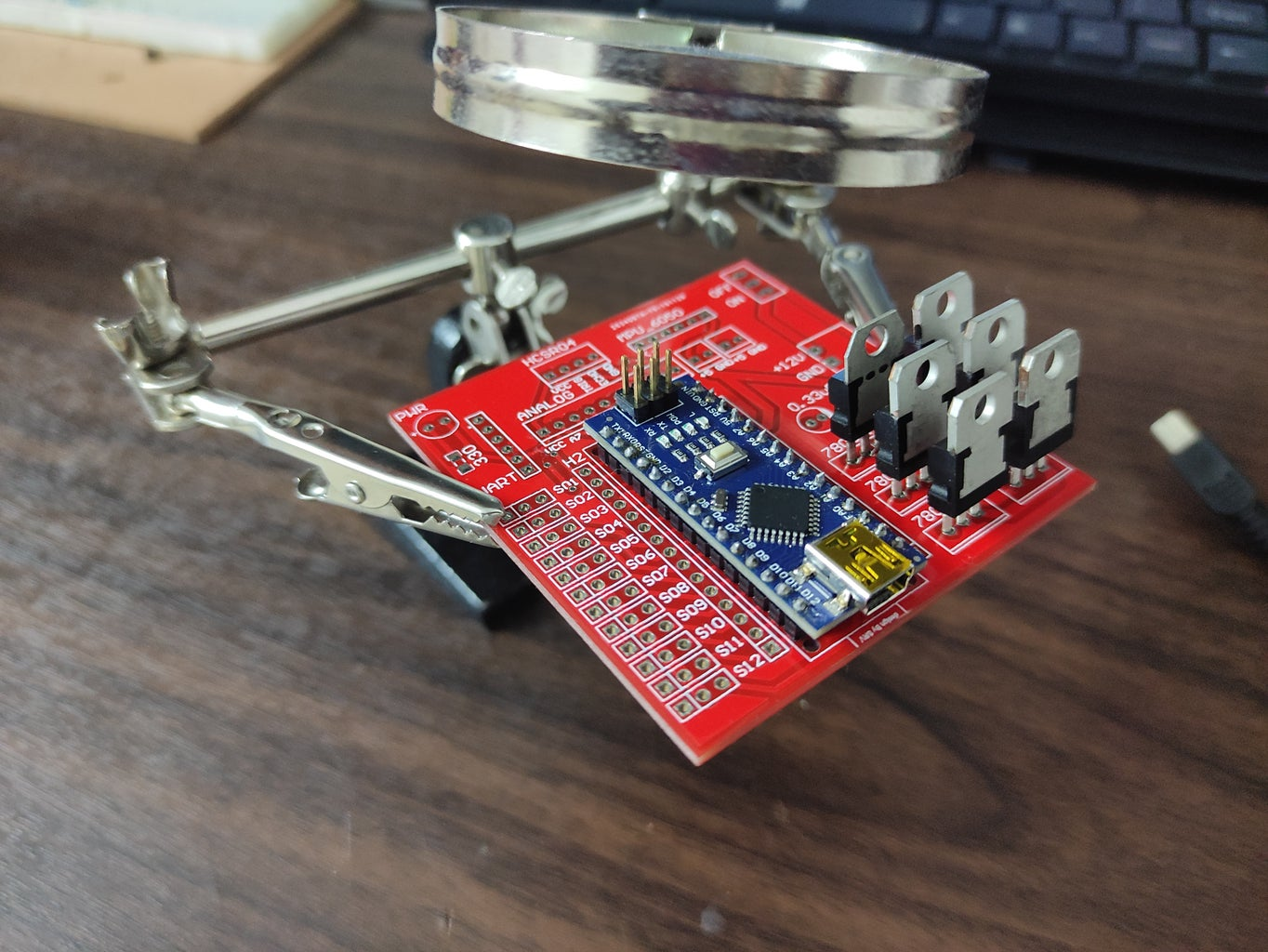 Soldering the Components and Uploading the Code