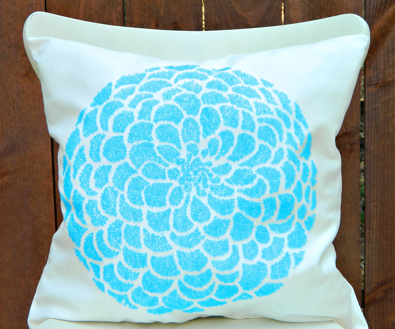 Beaded Pillows (without a stitch)