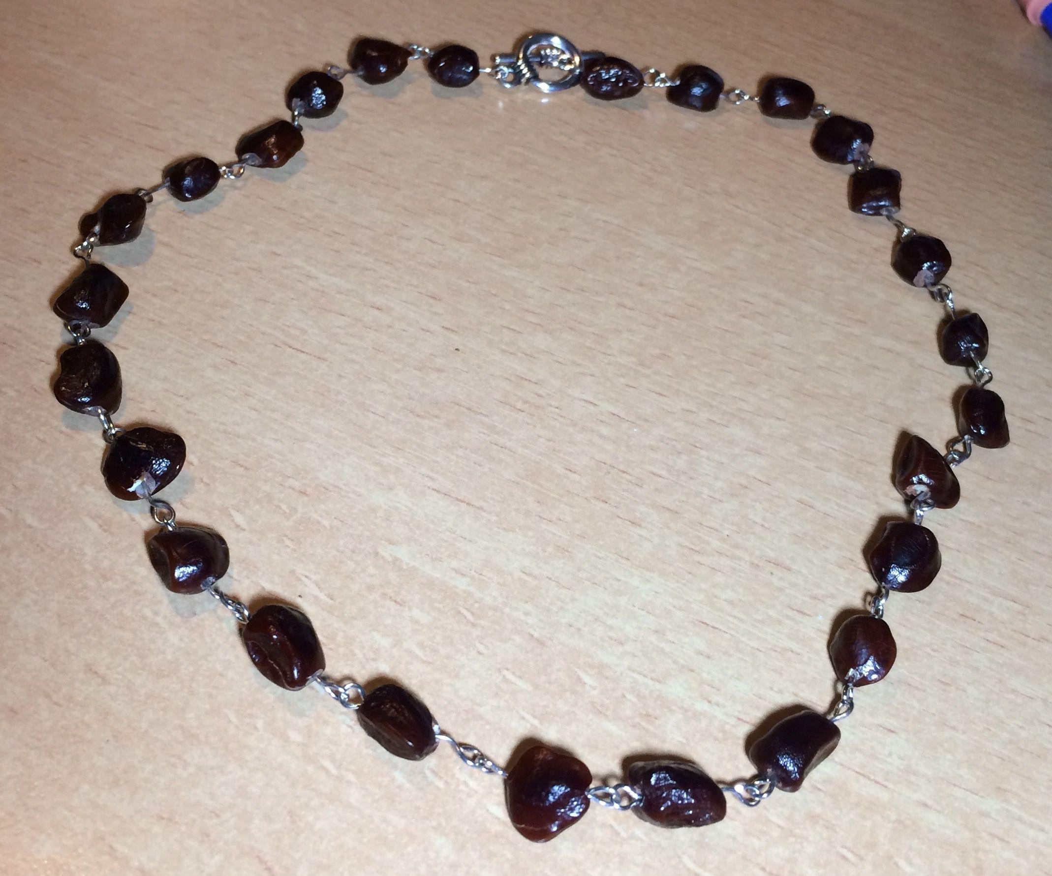 Unique Tamarind Beaded Necklace