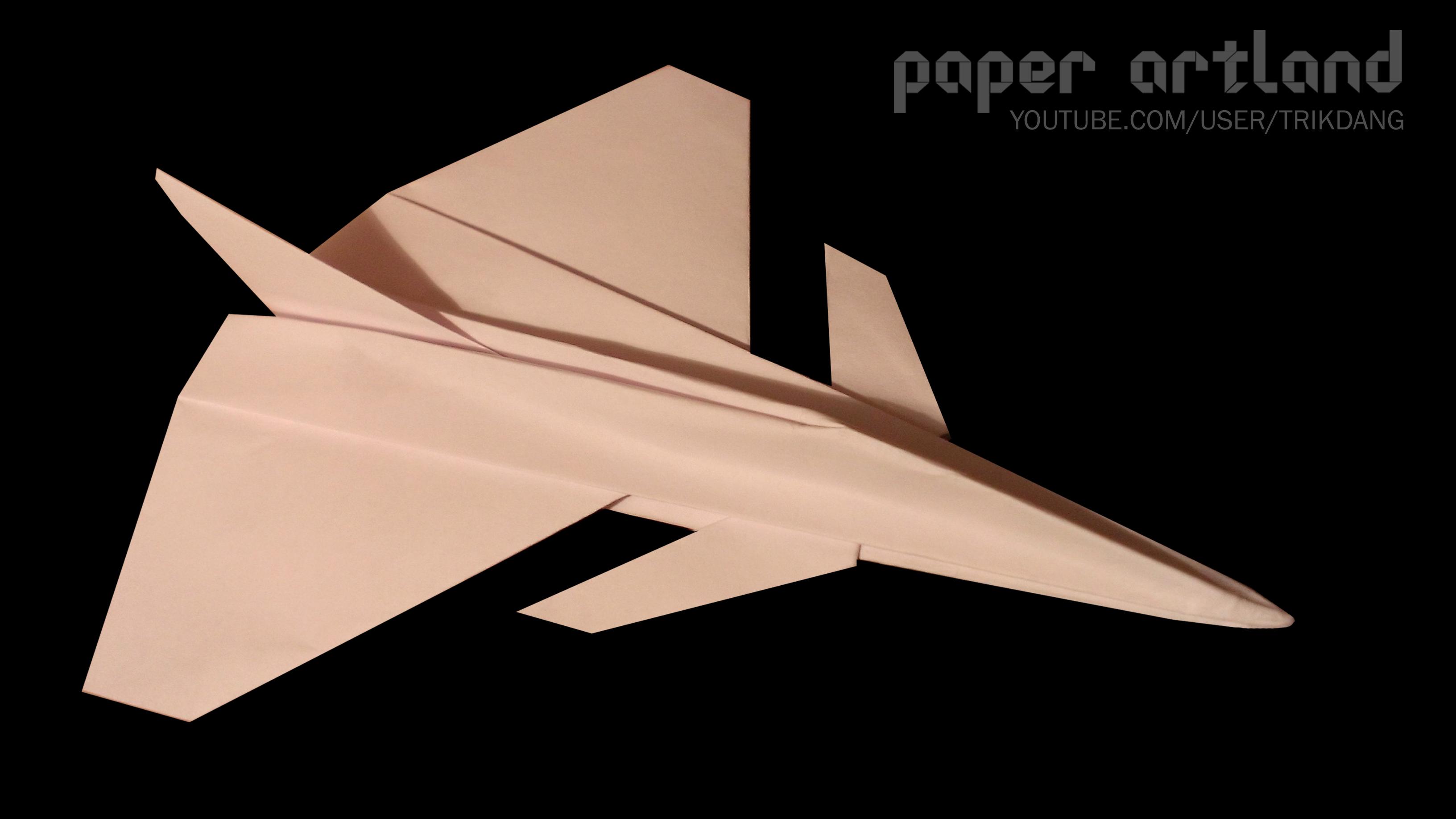 Cool Paper Plane Tutorial: Saab JAS 39 Gripen   Flyable