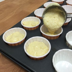 Using an Ice-cream Scoop, Spoon the Batter 3/4 Full Into the Cupcake Liners.