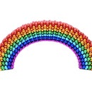 A Rainbow Made From 1026pcs 5mm Magnetic Balls