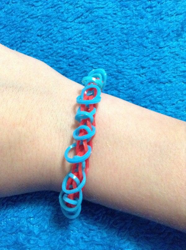 Hoop Rainbow Loom Bracelet