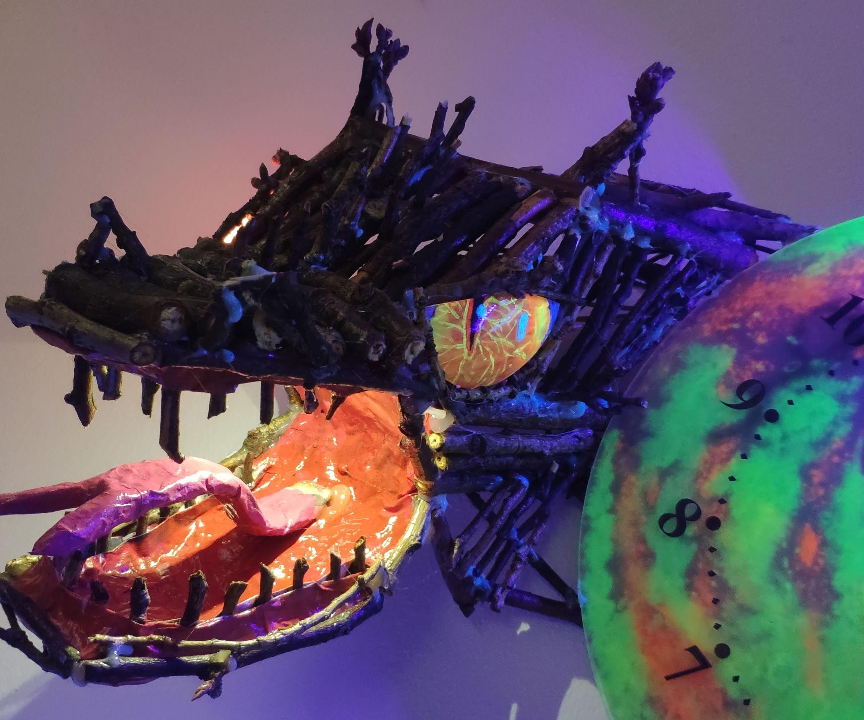 Bone Dragon Moonlight Clock