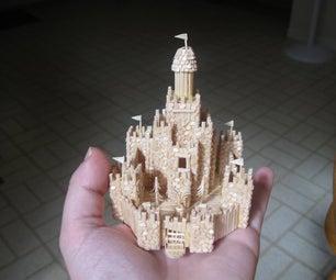 Micro Toothpick Castle