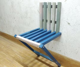 Wall Chair Out of Plastic Waste