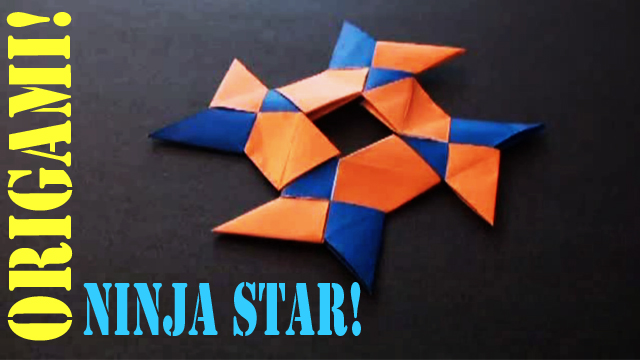 How to make a Paper Ninja Star (8 Pointed)!