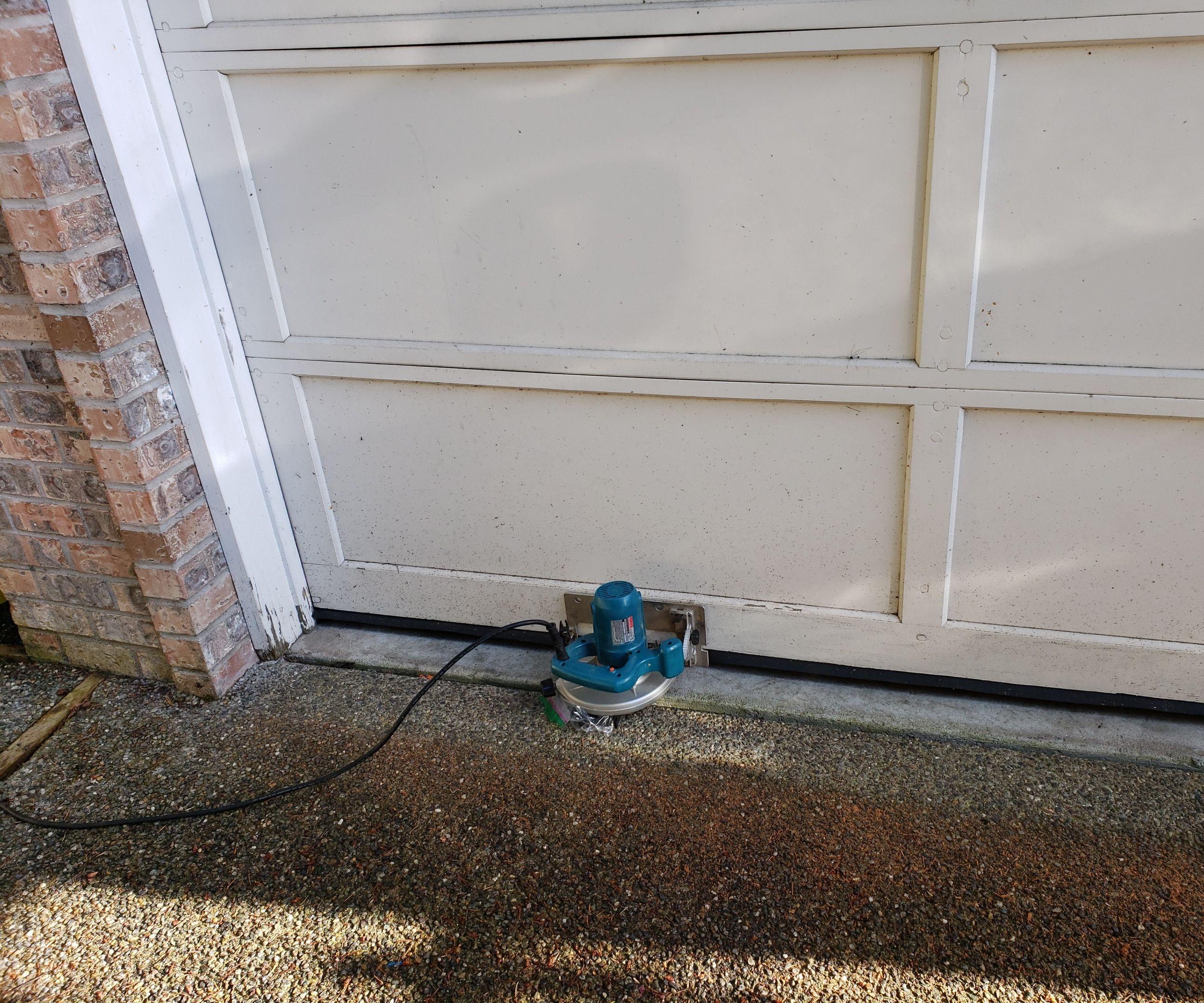 Fix Wooden Garage Door Gaps Due to Uneven Floor