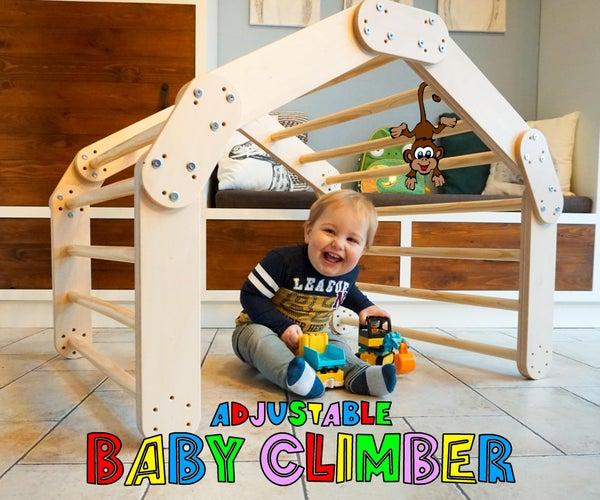 可调婴儿登山者 -  Pikler三角形