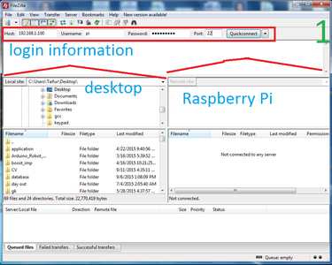 Transferring Files From Your Computer to Raspberry Pi Using FTP Client
