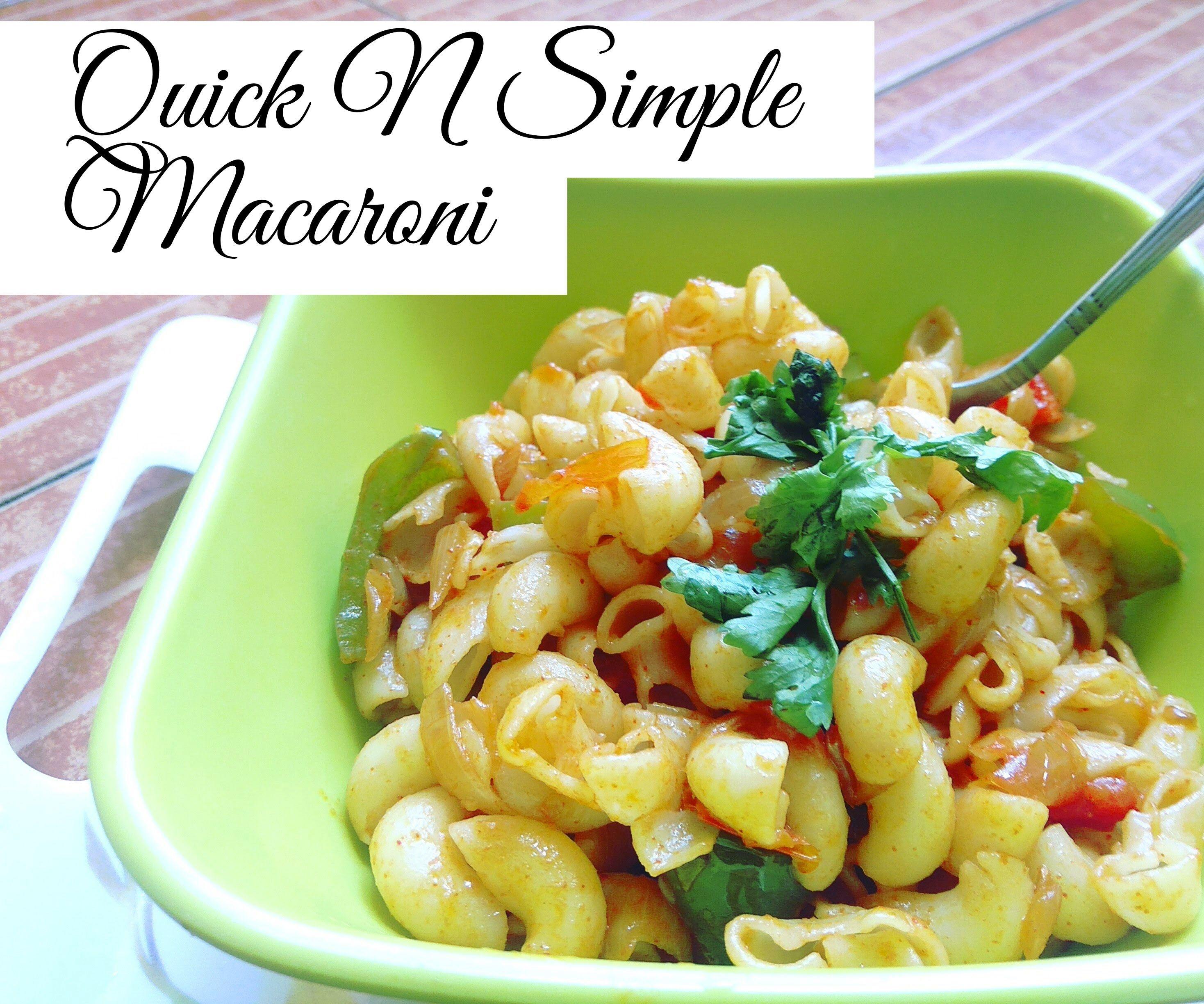 Quick Veggie Macaroni