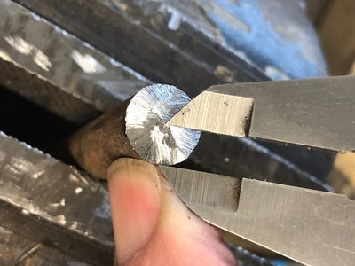 Center Drill the Rod to Accommodate the Nut