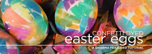 Confetti Dyed Easter Eggs