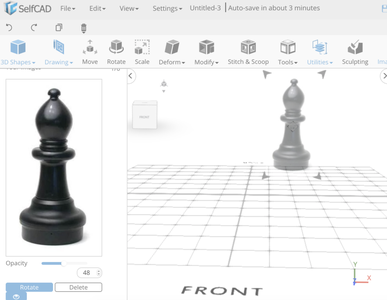 Learn SelfCAD- an Online 3D Modeling Software: Using a Reference Image