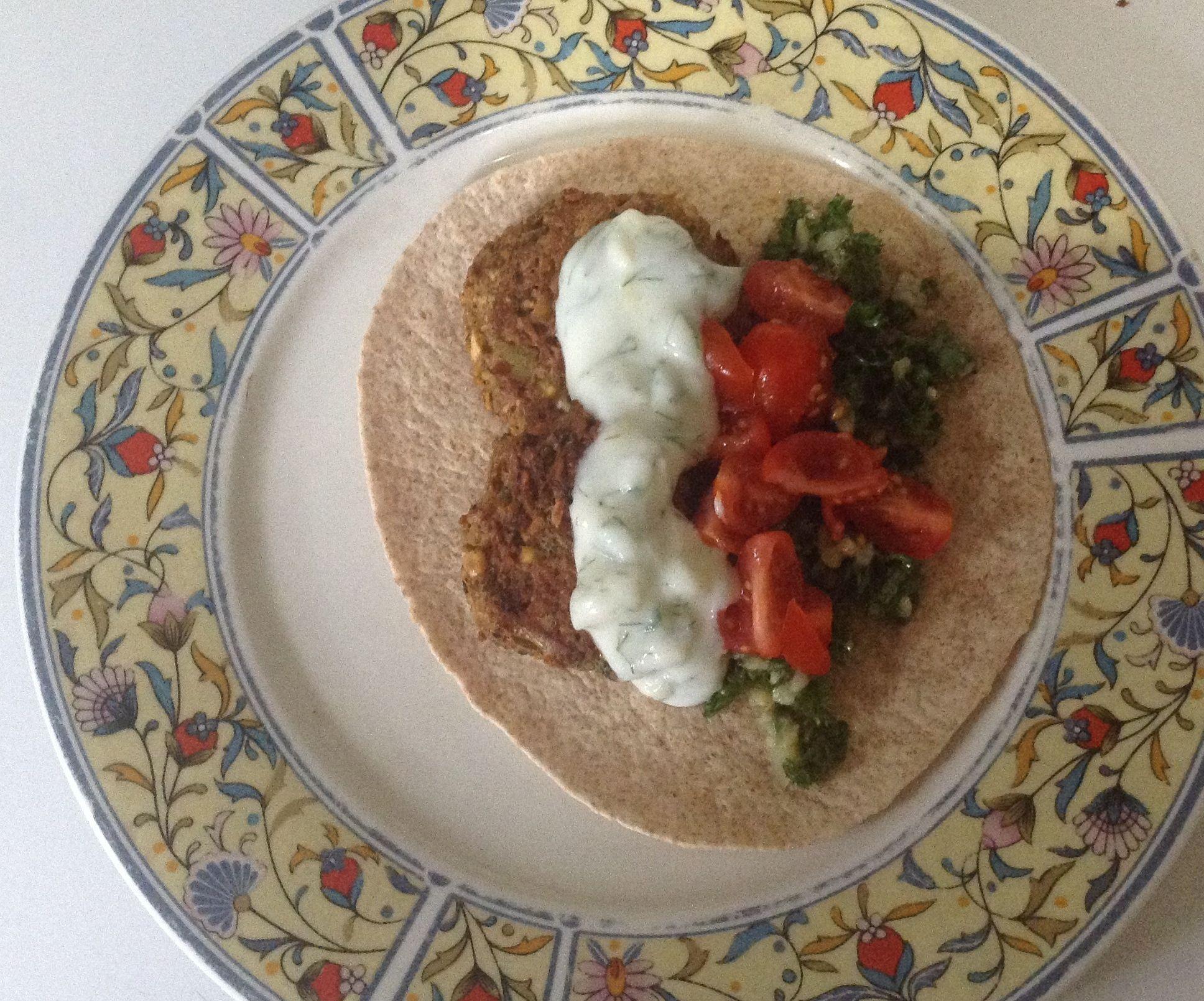 Falafel Dinner, No Food Processor