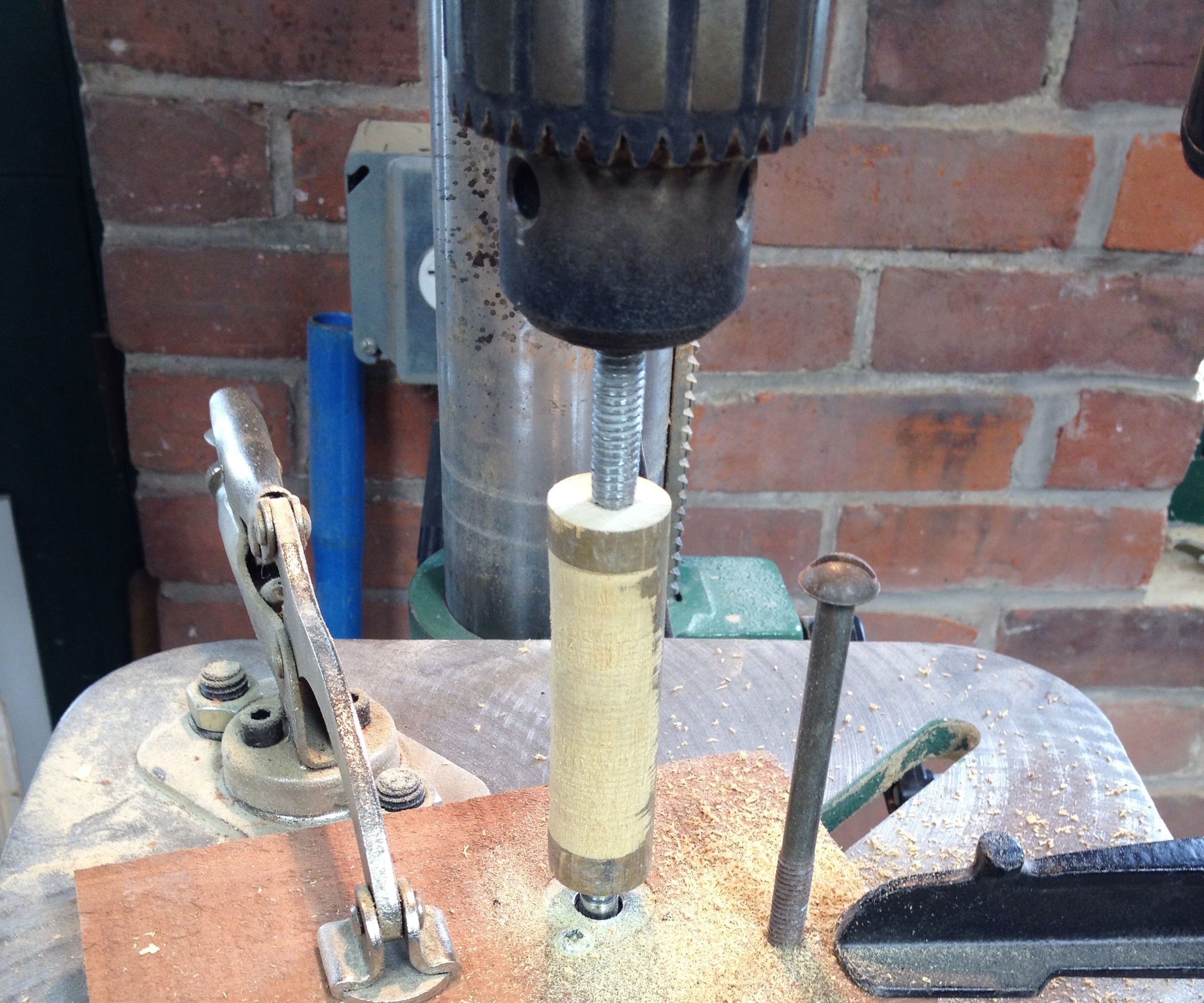 Drill Press As Wood Lathe