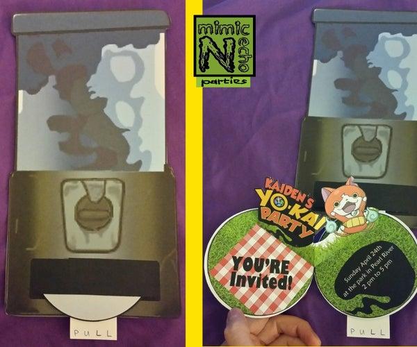 Yo Kai Watch Pop-up Party Invitations