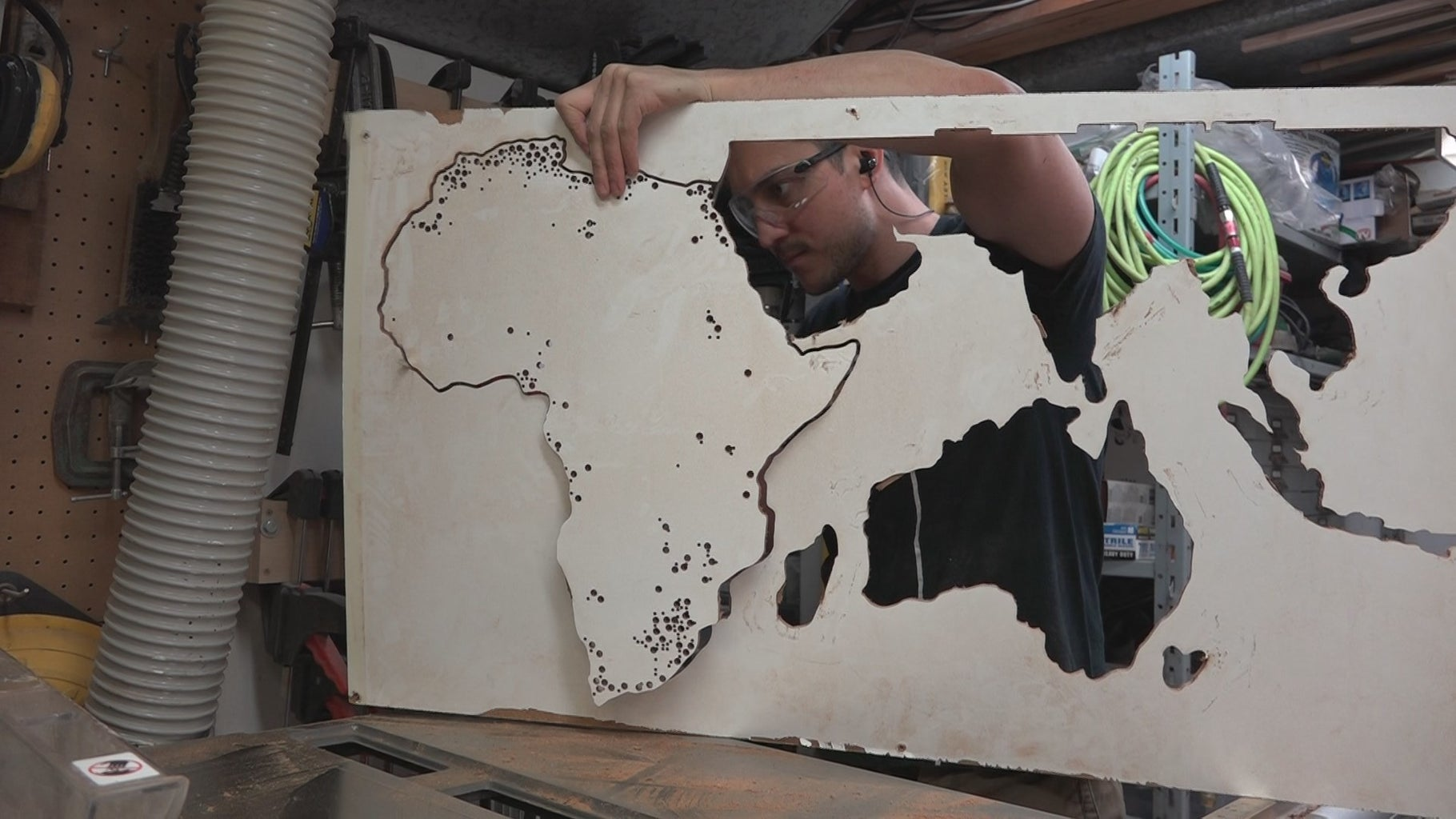 Cutting Out the Map (CNC Cutting)