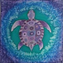 """Purple Turtle"" Silk Painting"