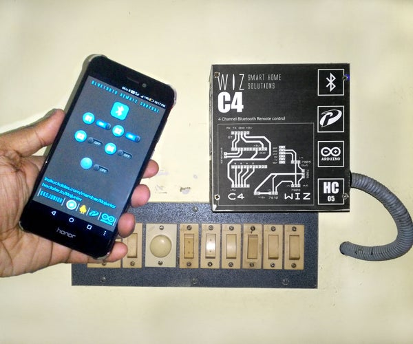 Simplest Home Automation Using Bluetooth, Android Smartphone and Arduino.
