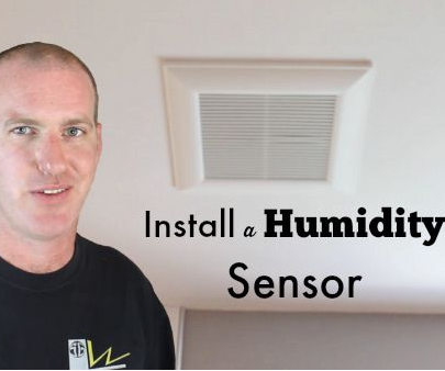 How to Install a Bathroom Humidity Sensor