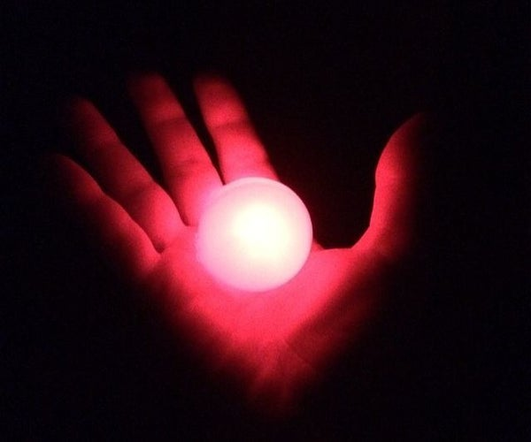Glow in the Dark LED Ping Pong Ball