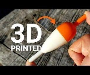 3D印刷的Bobers /钓鱼浮子 - 设计,制作和测试