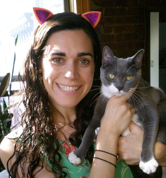 Sparkly Kitty Ear Barrettes