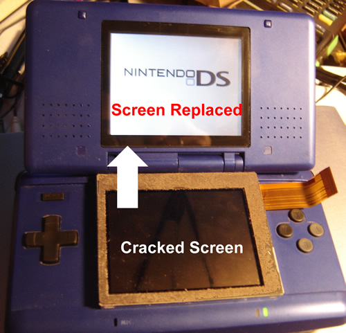 Replace the top screen of a Nintendo DS (without opening up the bottom half)