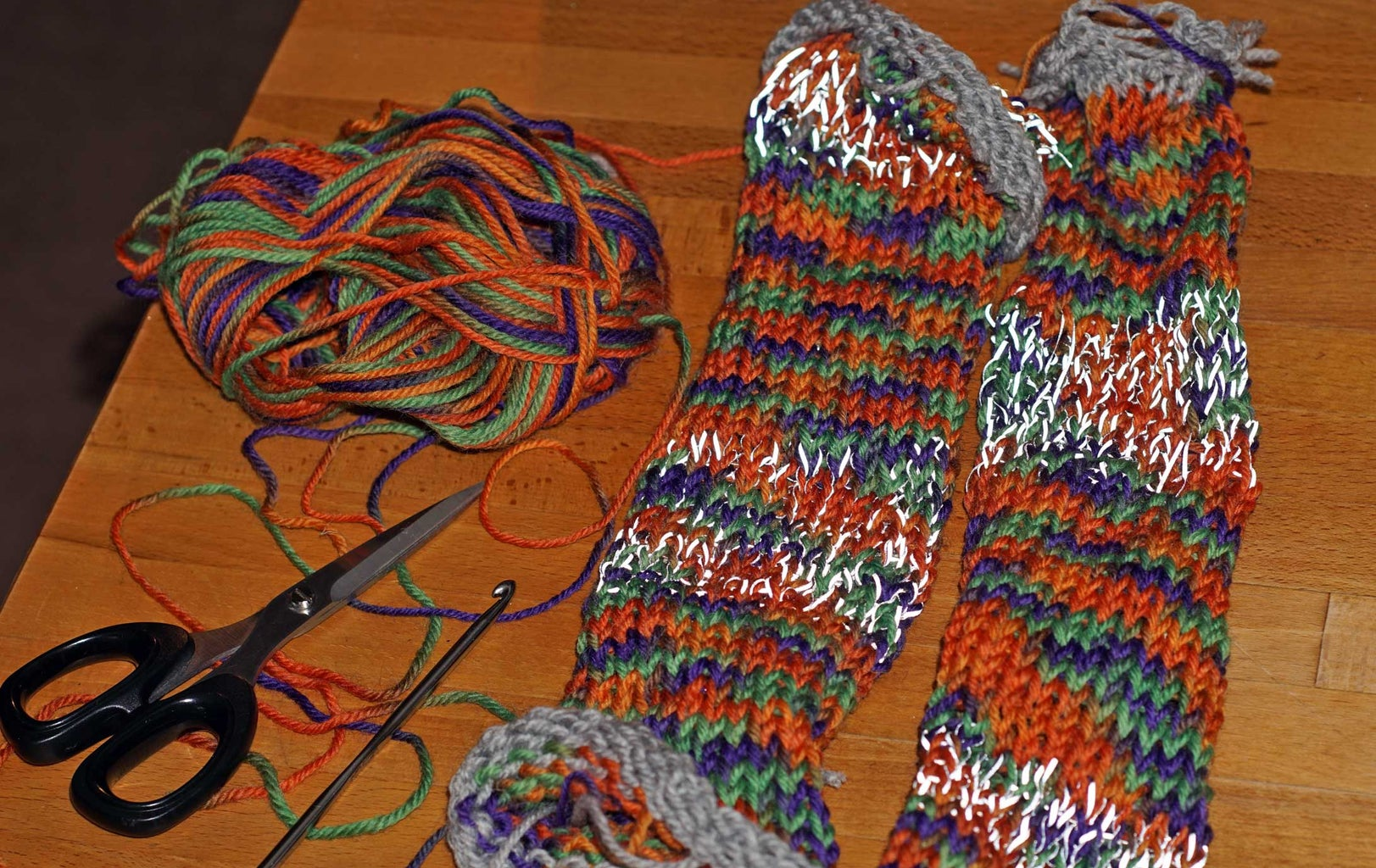 Step 3: Finishing Your Armwarmers