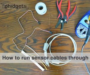 How to Run Sensor Cables Through USB Cables