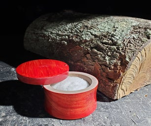 From Log to Salt Cellar - Using a Red Sharpie Marker to Tint Wood