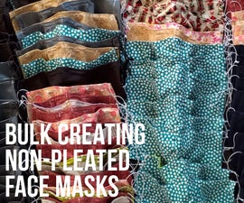 Bulk Creating Non-pleated Face Masks