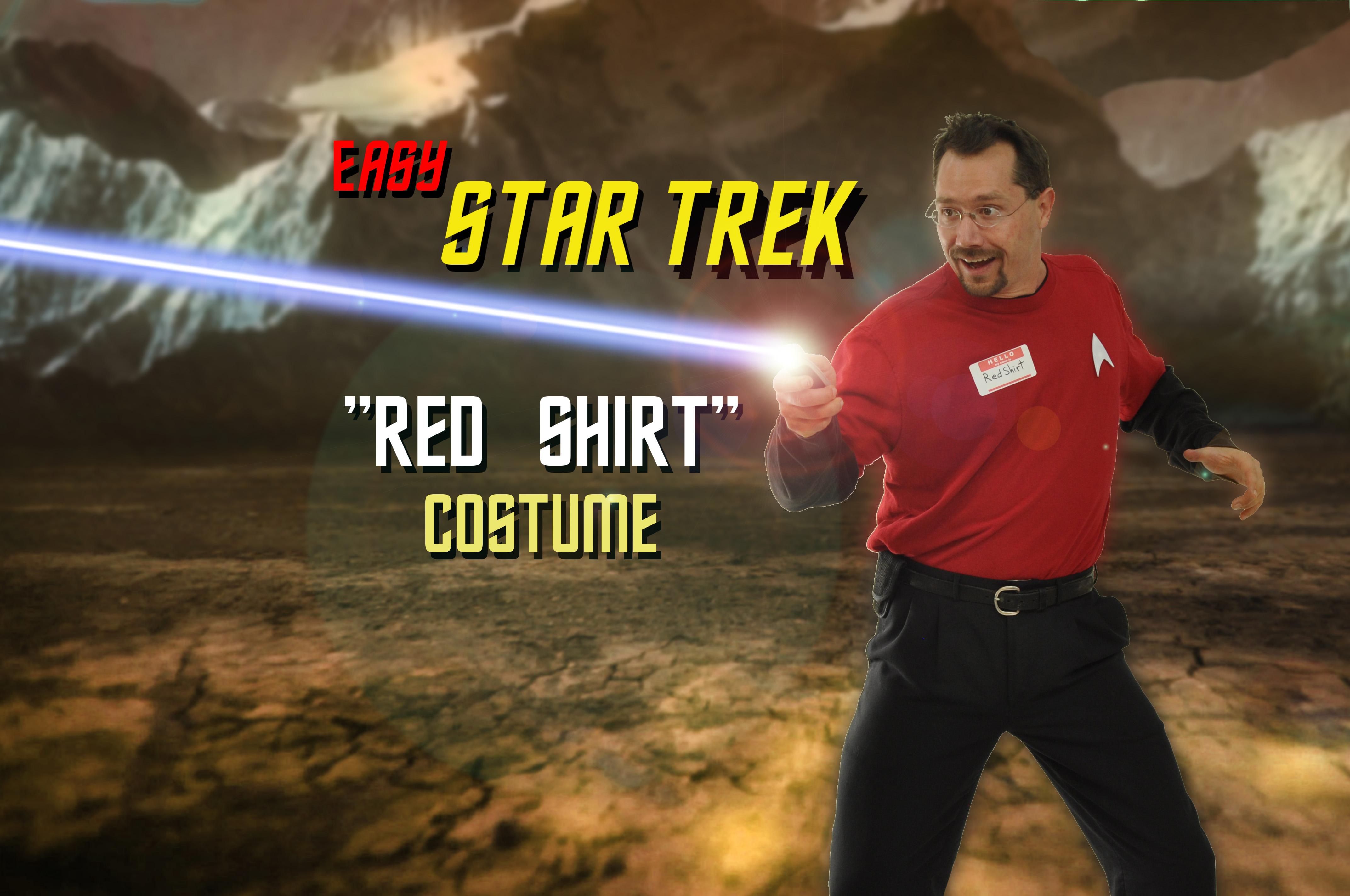 """Easy Star Trek """"Red Shirt"""" Costume"""