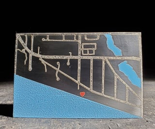 Acid Etched Steel Map - Marriage Proposal Commemorative Gift