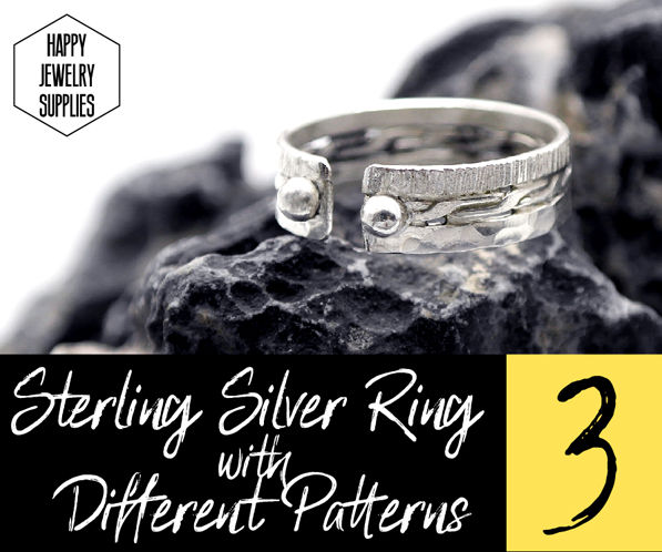 DIY Tutorial - How to Make Sterling Silver Ring With 3 Different Patterns!