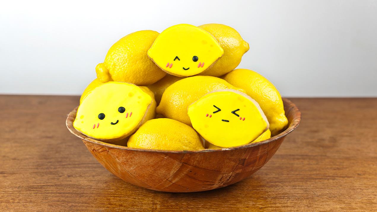 How to Make Super Cute Lemon Face Cookies