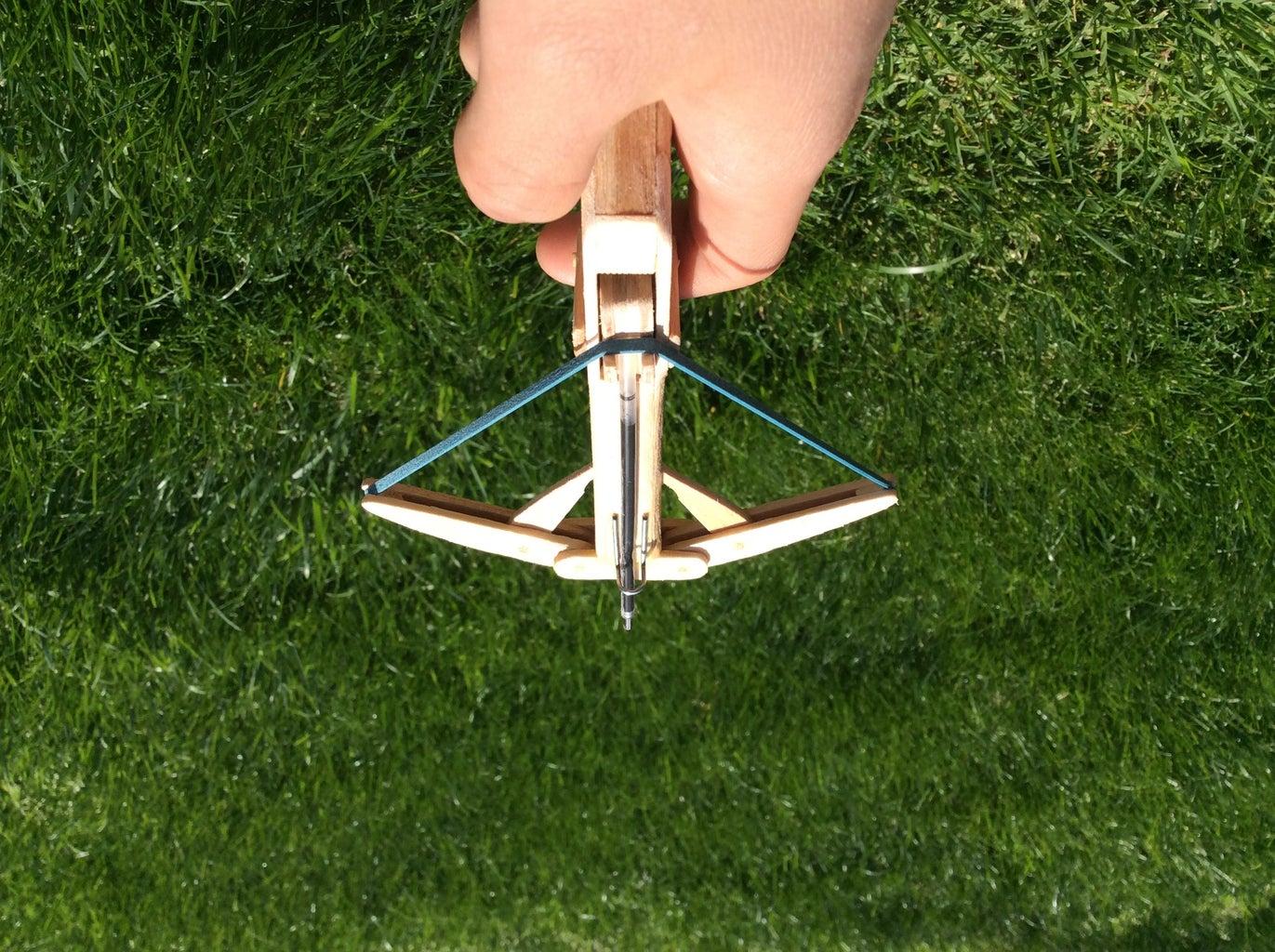 Popsicle Stick Folding X-Bow