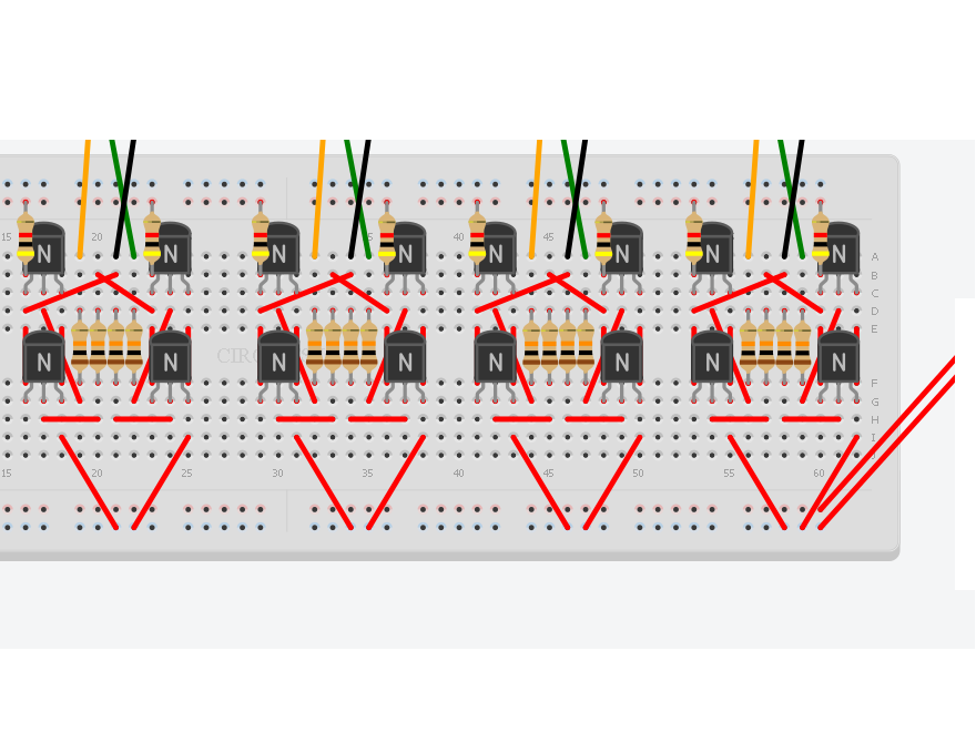 First steps in digital electronics with circuit.io