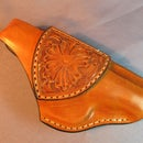 Makarov Handgun Leather Holster With Sheridan Tooling