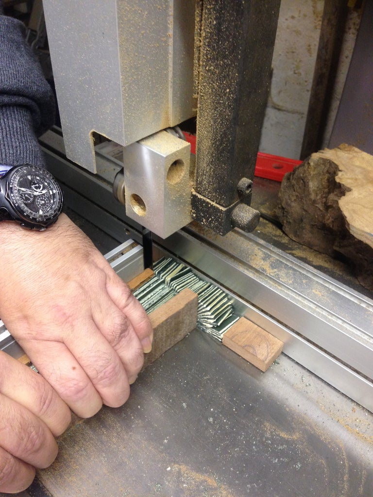Cutting the Paper for the Pen Blank