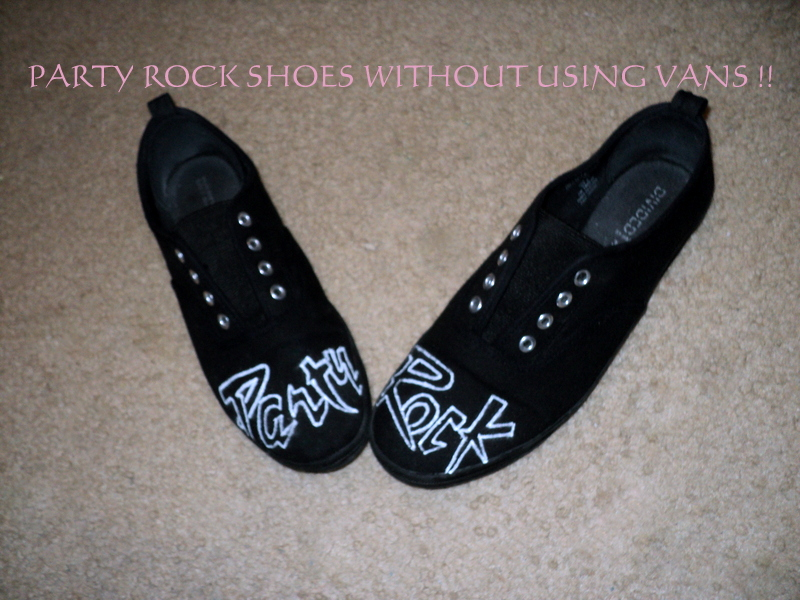 Party Rock Shoes W/Out Using Vans !