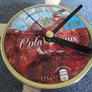 Sweet-tin lid-clock