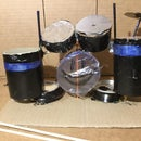 Mini Drum Set From Recycled Mailing Tube