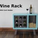 Wine Rack With Cork Holder
